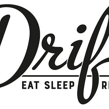 Eat Sleep Drift Repeat JDM Drifting Tshirt Black print by MarkPMB