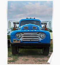 Vintage Blue Ford Truck Poster