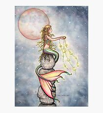 """""""Star Filled Sky"""" Mermaid Art by Molly Harrison Photographic Print"""