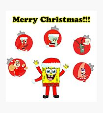 SpongeBob and friends Christmas LIMITED TIME ONLY Photographic Print