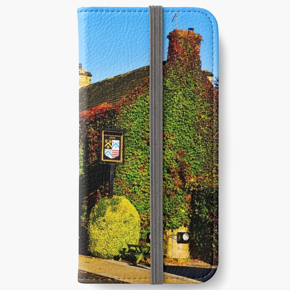 Herbstlicher Pub .... !! iPhone Flip-Case