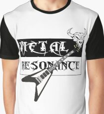 Metal Music Flying V Guitar Resonance Graphic T-Shirt