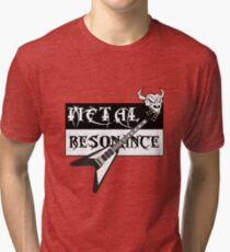 Metal Music Flying V Guitar Resonance Tri-blend T-Shirt
