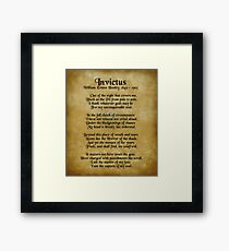 Invictus, Ernest Henley poem on parchment Framed Print