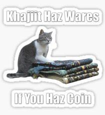 Khajiit haz wares - V.3 classic meme Sticker