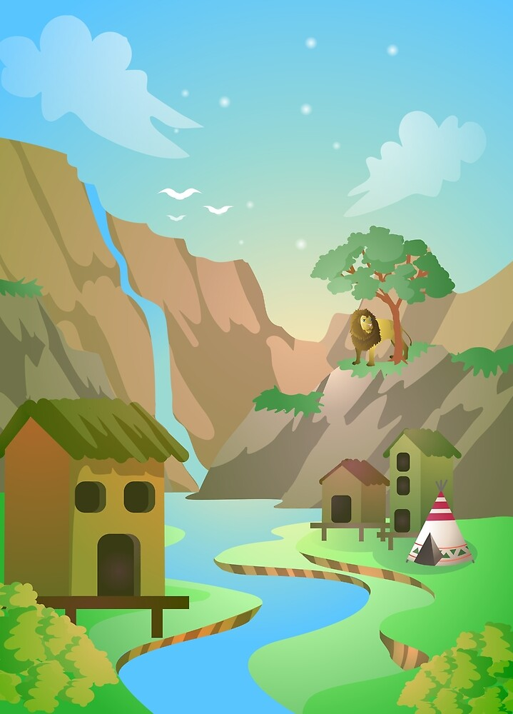 Tribal Village by Strackspel