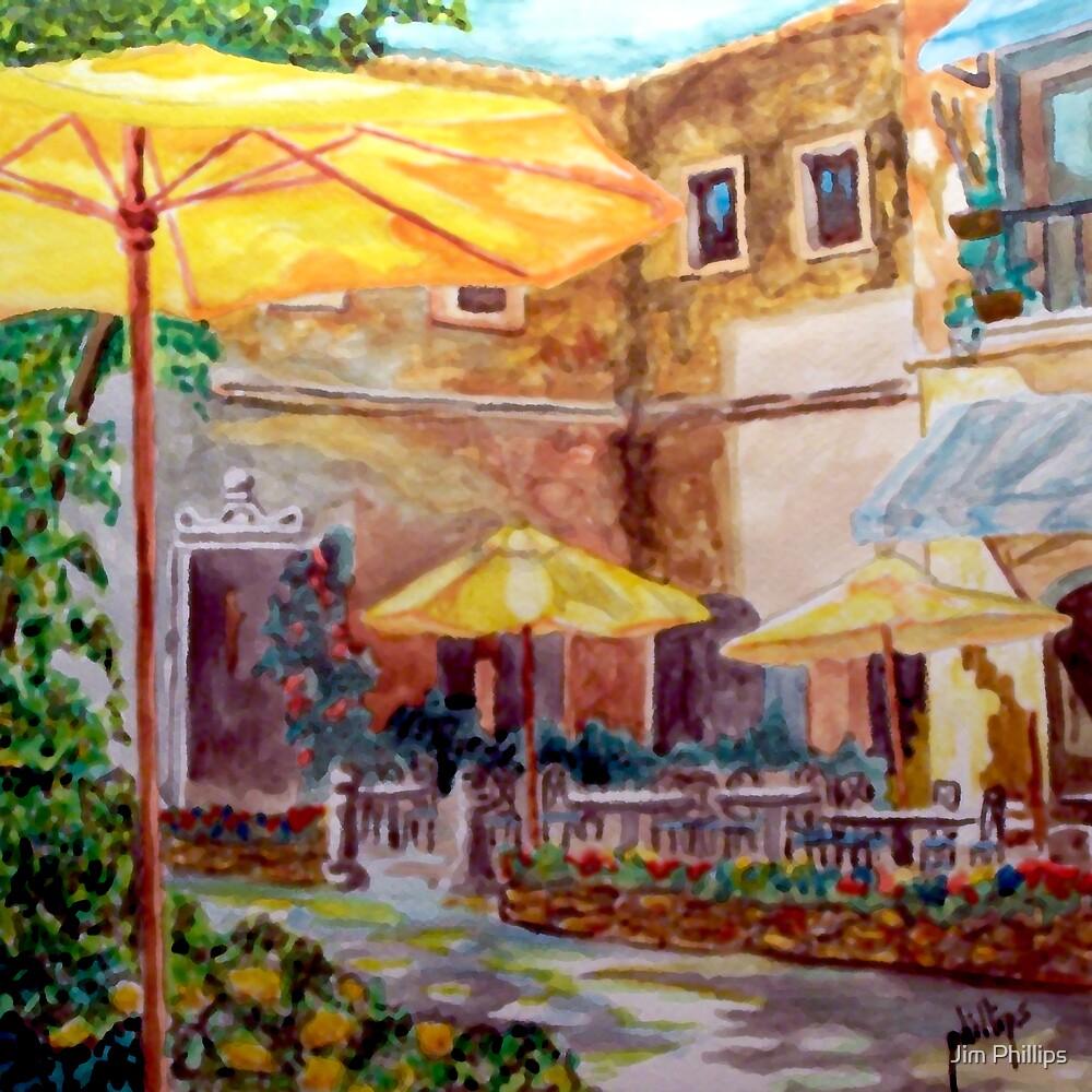 Sidewalk Cafe by Jim Phillips