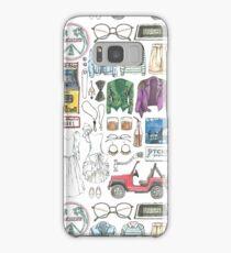 SAN JUNIPERO Black Mirror Flat Lay Objects Costumes 80's Yorkie and Kelly Samsung Galaxy Case/Skin