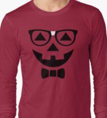 Funny Halloween T-Shirt Nerdy Pumpkin Face Glasses Costume  T-Shirt