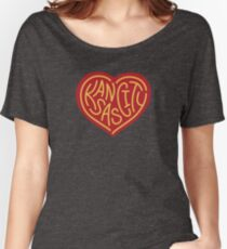 1b80b03e7af6 Love KC (red x yellow) Women s Relaxed Fit T-Shirt