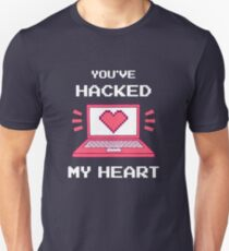 Du hast mein Herz gehackt Slim Fit T-Shirt