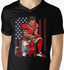 Take a Knee T-shirt Football Flag Resist Anti Trump - I'm with Kap Kaepernick Men's V-Neck T-Shirt