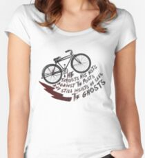 He Thrusts His Fists Against The Posts Women's Fitted Scoop T-Shirt