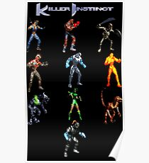 Killer Instinct (SNES Character Lineup) Poster