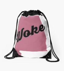 Woke Alabama - pink Drawstring Bag