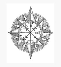 Vegvisir Compass Photographic Print