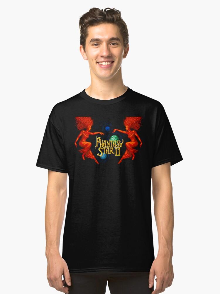 Phantasy Star 2 (Genesis Title Screen) Classic T-Shirt Front