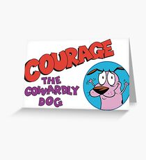 courage the cowardly dog Greeting Card