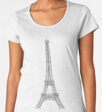 Eiffel Tower Paris Illustration Women's Premium T-Shirt