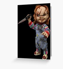 Chuky with knife Greeting Card