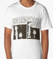 Calvin and Hobbes Night Sky Comic Long T-Shirt
