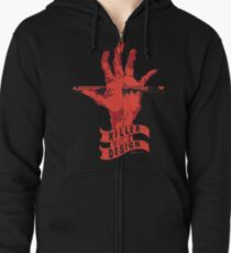 Killer Design - Red Zipped Hoodie