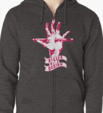 Killer Design - 1 Color Zipped Hoodie