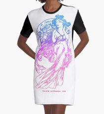 La Musique Graphic T-Shirt Dress
