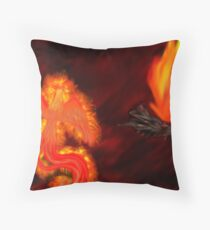 Born of Fire Throw Pillow