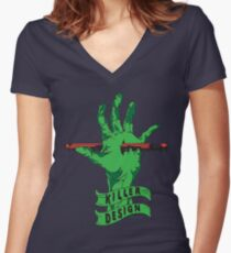 Killer Design - Green Fitted V-Neck T-Shirt