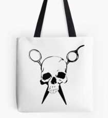 Skull and Shears Hair Stylist Art Tote Bag