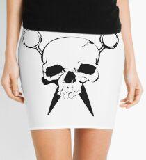 Skull and Shears Hair Stylist Art Mini Skirt