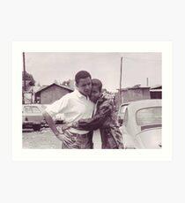 Lámina artística Jóvenes Barack y Michelle Obama Imprimir