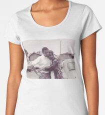 Young Barack and Michelle Obama Print Women's Premium T-Shirt