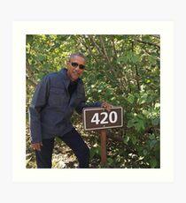 420 Obama Druck Kunstdruck