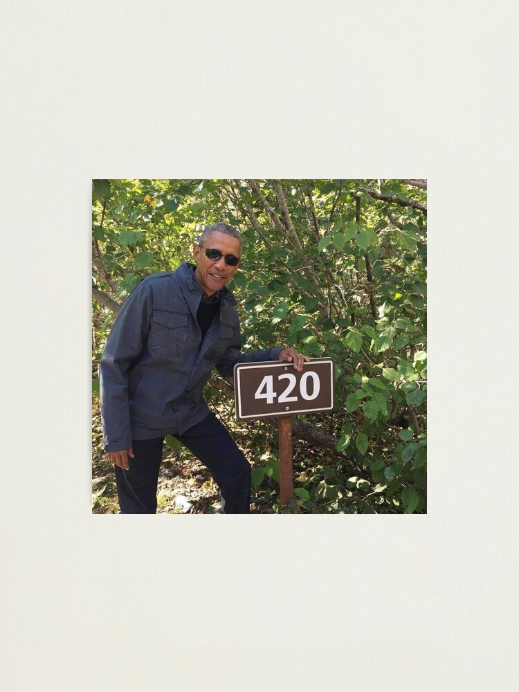 Alternate view of 420 Obama Print Photographic Print