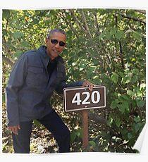 420 Obama Druck Poster