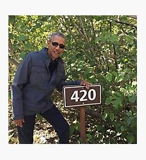 420 Obama Print Photographic Print