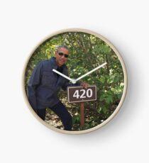 420 Obama Print Clock