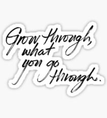 Grow Through What You Go Through Sticker