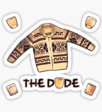 THE DUDE (White Russian edit) Sticker