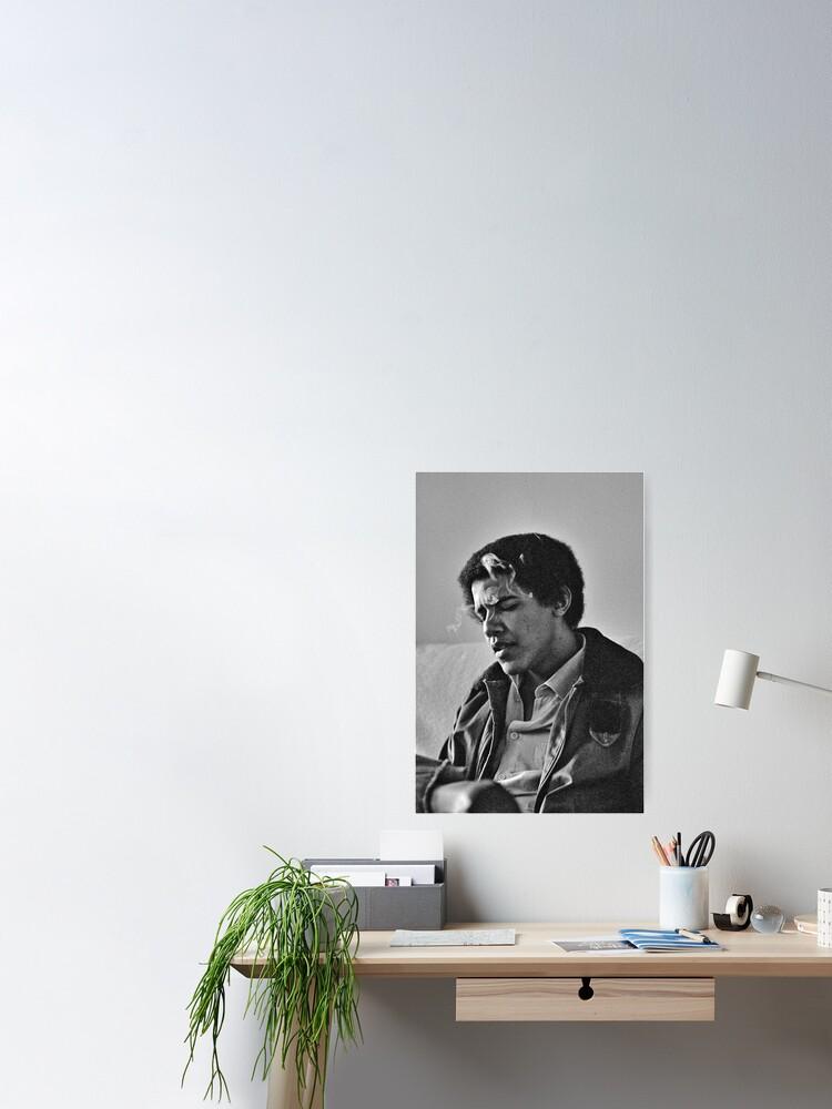 Alternate view of Young Barack Obama - Smoking Print Poster