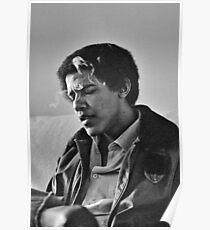 Junger Barack Obama - rauchender Druck Poster