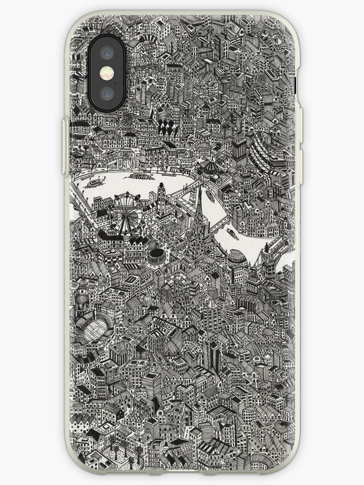 London Map Printed Print Britain Iphone Cases Covers By Ol1ie