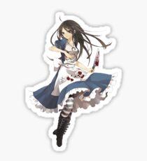 Wahnsinn Alice Sticker