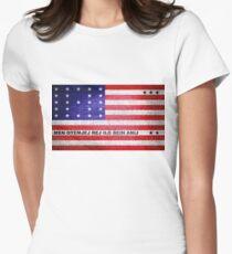 Bikini Atoll Flag Womens Fitted T-Shirt