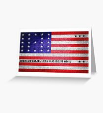Bikini Atoll Flag Greeting Card
