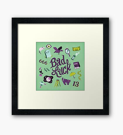 Bad Luck Framed Print