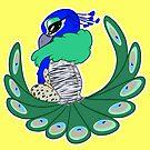 Round Peacock Gryphon by Broeckchen