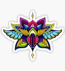 Aztec Lotus Sticker